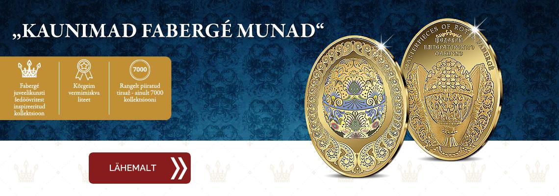 """Kollektsioon """"Kaunimad Fabergé munad"""", esimene meene - """"Lihavõttemuna"""""""