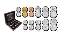 Põhja- ja Lõuna-Korea autentsete müntide komplekt
