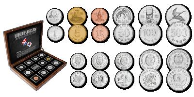 11 autentset käibemünti Korea riikidest