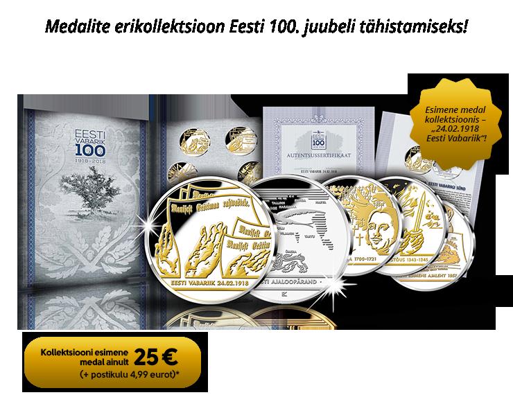 """Kollektsioon """"Eesti Ajaloopärand"""", esimene medal  """"Eesti Vabariik 1918"""""""