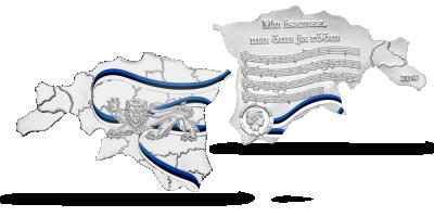 Eesti maakaardi kujuline münt