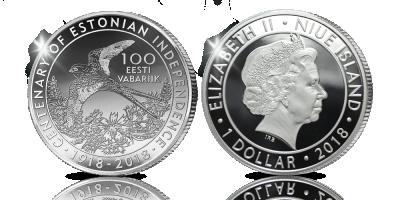 Eesti rahvussümbolite hõbemünt