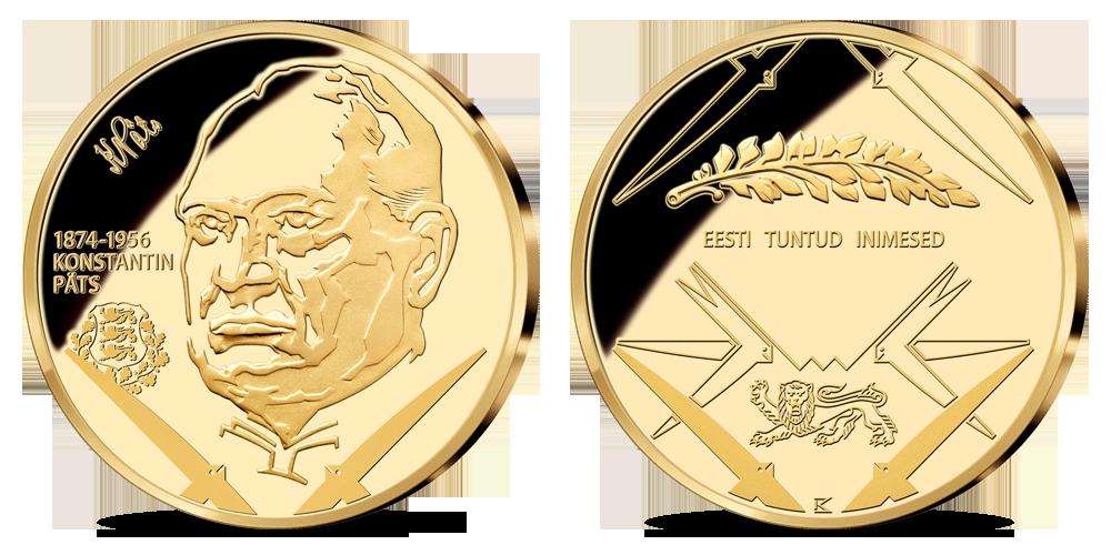 """Kollektsioon """"Eesti tuntud inimesed"""", esimene medalit - """"Konstantin Päts 1874 - 1956"""""""