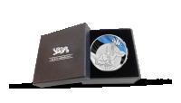 Eesti Vabariigi aastapäevale pühendatud hõbetatud medal