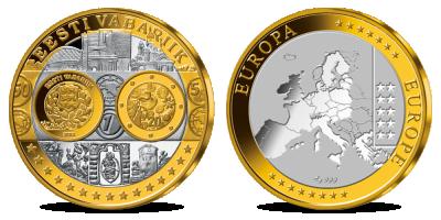 """Kollektsioon """"Esimesed euromedalid"""", esimene medal - """"Eesti euromedal"""""""