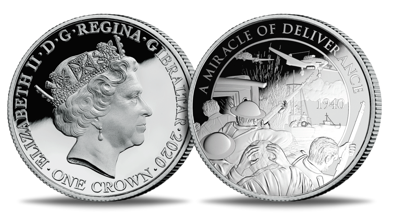 """Hõbemünt """"Dunkerque ́i lahingu 80. aastapäev"""""""