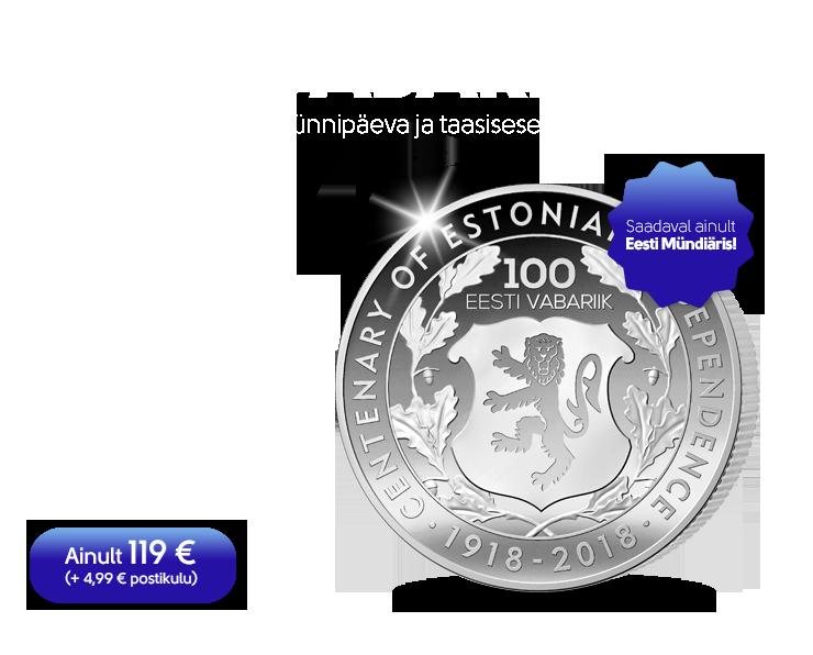 Eesti omariikluse sajandale aastapäevale pühendatud hõbemünt