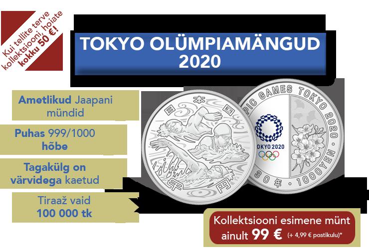 """Hõbemüntide kollektsioon """"Tokyo olümpiamängud 2020"""""""