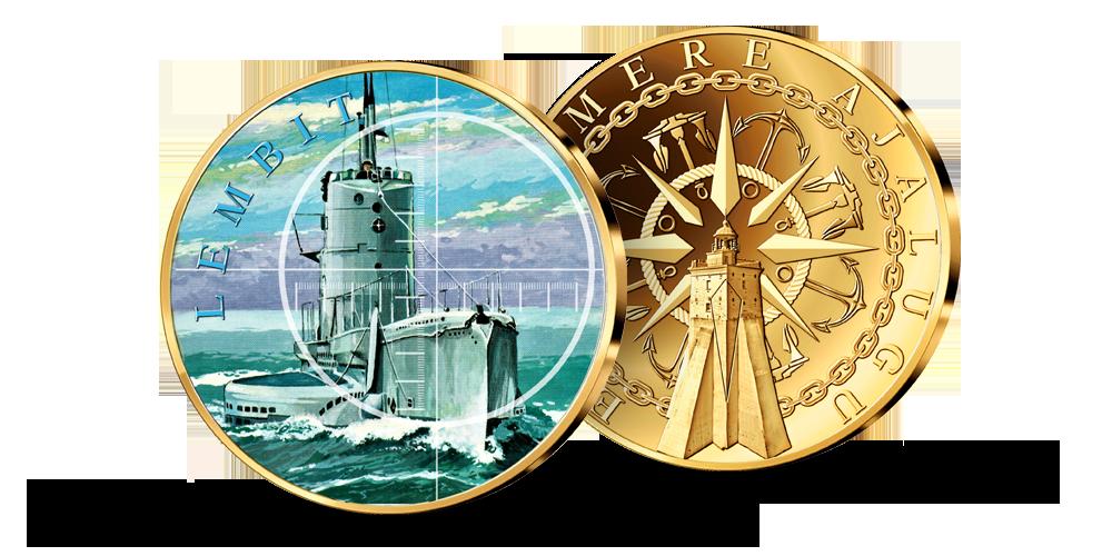 """Kollektsiooni """"Eesti ajaloolised laevad"""", esimene medal """"Lembit"""""""