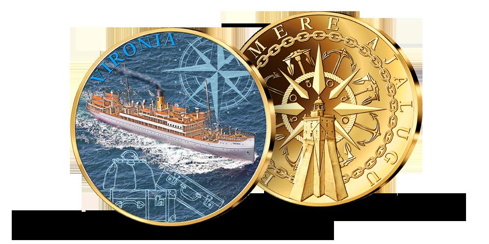 """Kollektsiooni """"Eesti ajaloolised laevad"""", medal """"Vironia"""""""