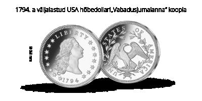 """Kollektsioon """"Maailma kuulsaimate müntide koopiad"""", esimene münt """"Vabadusjumalanna"""" koopia"""