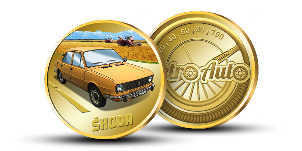 """Kollektsiooni """"Retro Auto"""", medal """"Skoda"""""""