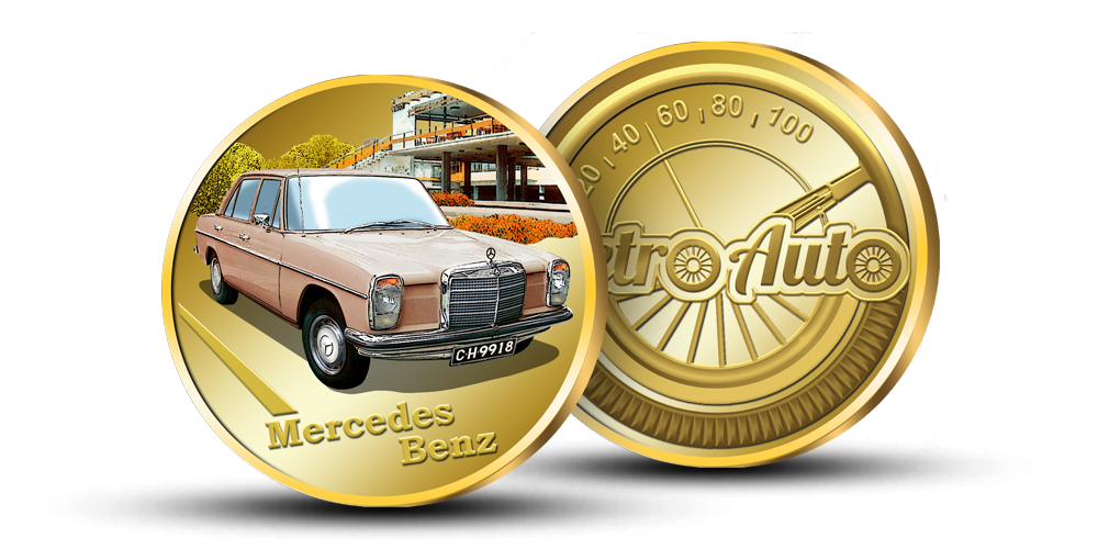 "Kollektsiooni ""Retro Auto"", medal ""Mercedes Benz"""