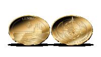 Allveelaev Lembitule pühendatud kuldmünt