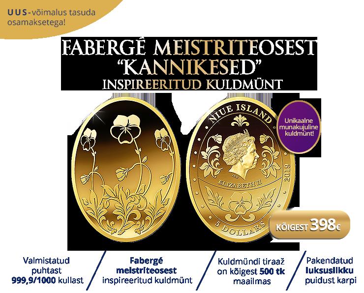 "Kuldmünt ""Fabergé muna – Kannikesed"""