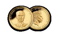 """Kuldmünt """"Lennart Meri – Eesti Vabariigi president"""" 1/4 untsi"""