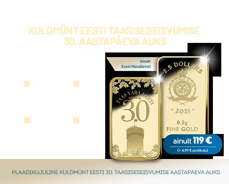 "Kuldplaat ""Taas vaba Eesti 30"""