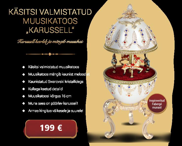 Kullatud muusikakast inspireeritud Fabergé munast