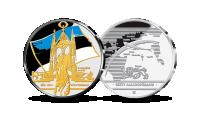 EÜSi lipu pühitsemise pühendatud, kulla ja hõbedaga kaetud medal