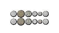 Kuuest maailmajaost pärit hõbemüntide komplekt