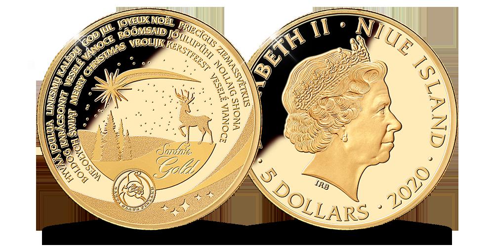 Lapimaa kullast valmistatud jõulumünt