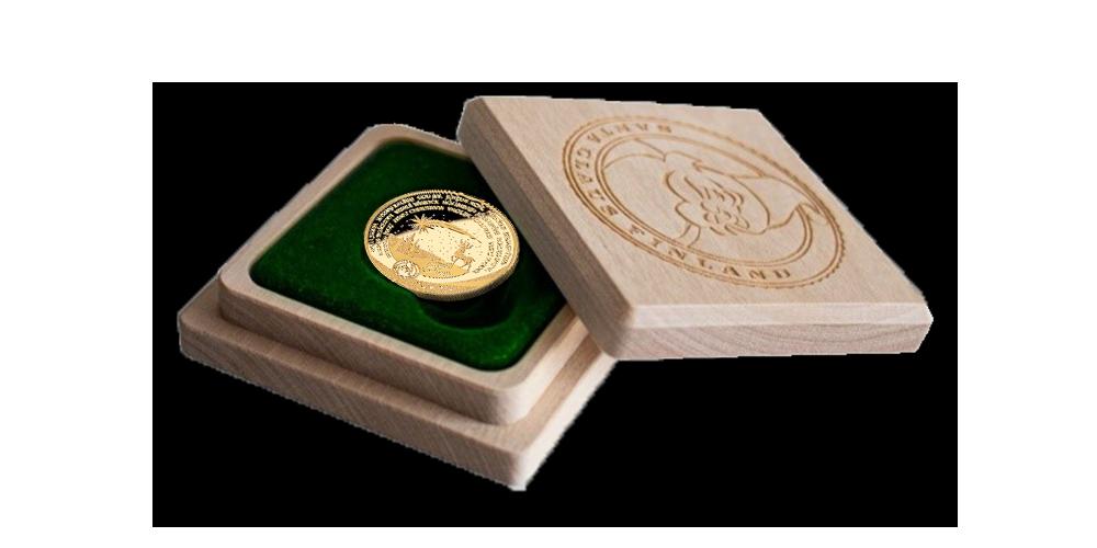 Münt on valmistatud jõuluvana kullast