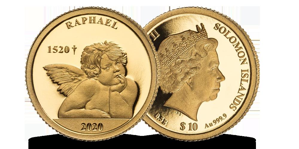 """Puhtast kullast münt """"Raffaeli inglid"""""""