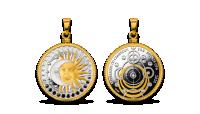"""Hõbemünt-ripats """"Päike ja Kuu"""""""