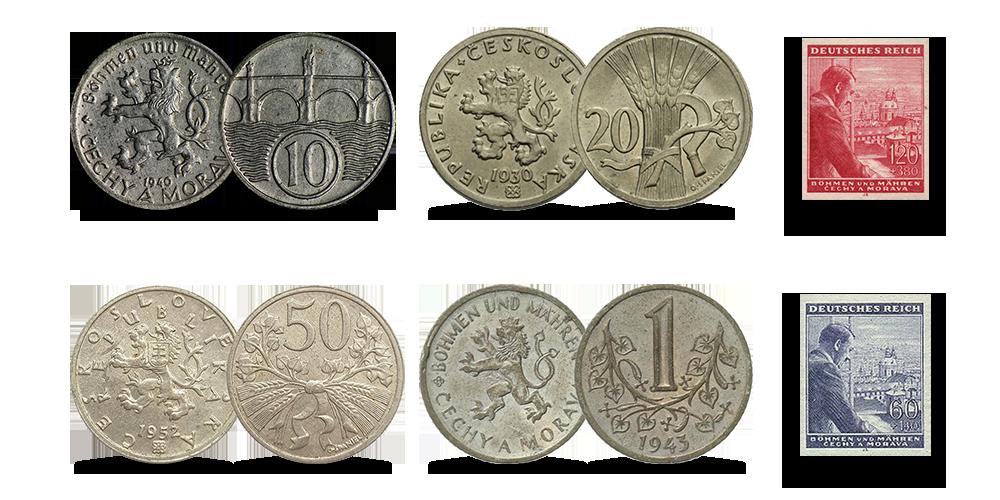 """Autentsete müntide komplekt """"Böömimaa ja Määrimaa"""""""