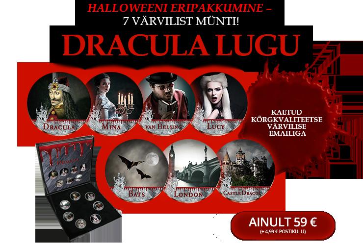 """Värviliste müntide komplekt """"Dracula lugu"""""""