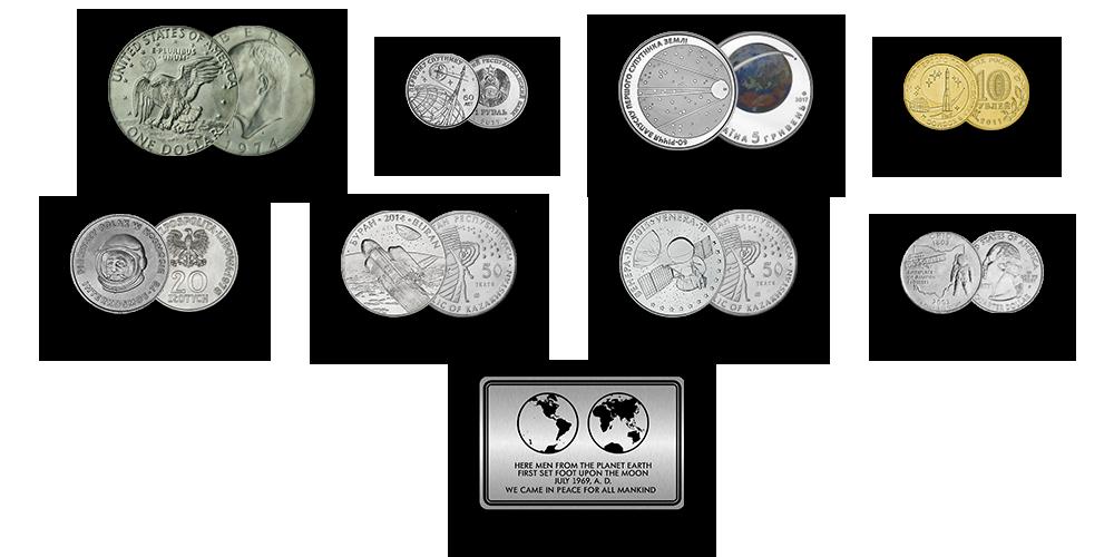 """Autentsete müntide komplekt """"Kosmose vallutamine"""""""
