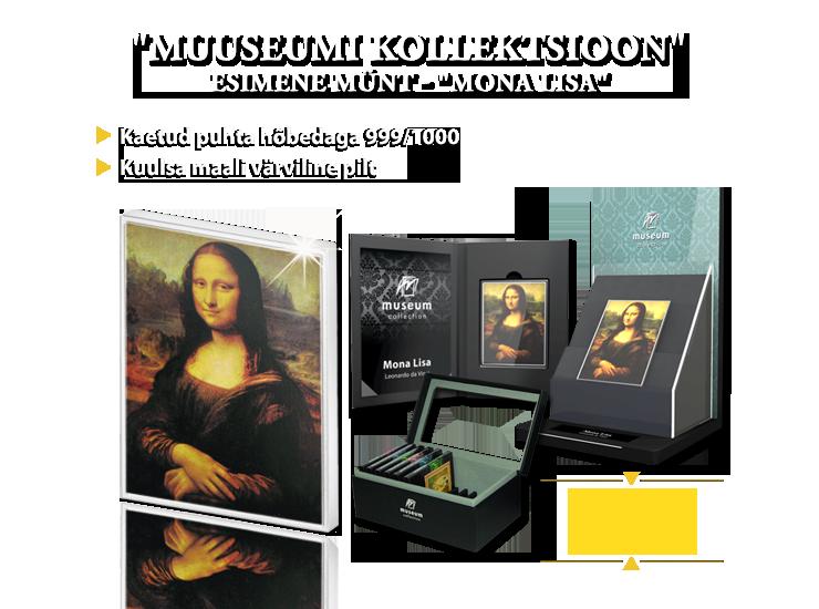 """""""Muuseumi kollektsioon"""", esimene münt - """"Mona Lisa"""""""