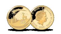 """Puhtast kullast münt """"Jõulud"""""""