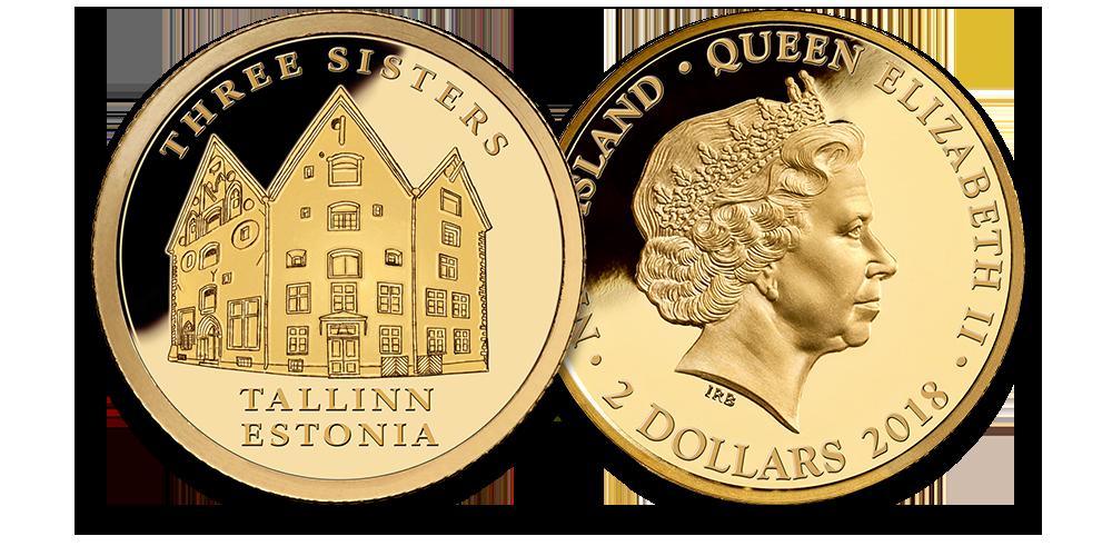 """Puhtast kullast münt """"Kolm õde"""" 0,5 g"""