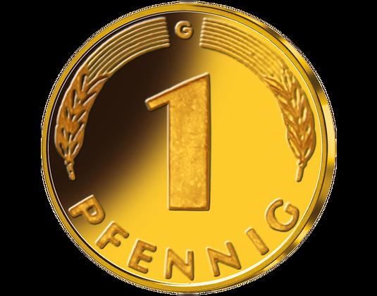 1 Pfennig münt