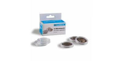 Ümmarguste mündikapslite pakid CAPS: läbimõõduga kuni 39 mm