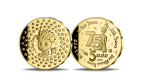 """Antoine de Saint-Exupéry """"Väikese printsi"""" 75. aastapäeva kuldmünt"""
