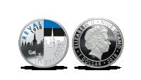 """Kaunistatud hõbemünt """"Reval-Tallinn"""""""